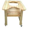 "Kahuna Grills Wooden Table for 18"" Kamado"