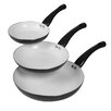 Basic Essentials 3 Piece Non-Stick Frying Pan Set