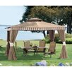 Sunjoy Louisa 12 Ft. W x 10 Ft. D Aluminum and Steel Gazebo