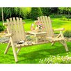 Sunjoy Fairbanks Wood Tete-a-Tete Adirondack Seating Group