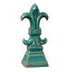 Howard Elliott Fleur de Lis Shaped Glazed Figurine