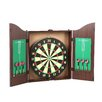 Trademark Games TGT Dartboard Cabinet Set in Realistic Walnut