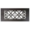 "Acorn 4"" x 10"" Cast Iron Grille in Black"