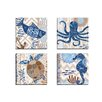 Portfolio Canvas Decor Barrier Reef Fish by Jennifer Brinley 4 Piece Graphic Art on Wrapped Canvas Set