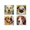 Portfolio Canvas Decor Art Dog Beagle by Sandy Doonan 4 Piece Wall Art on Wrapped Canvas Set