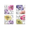 Portfolio Canvas Decor Watercolors 1 by Mindy Sommers 4 Piece Graphic Art on Wrapped Canvas Set