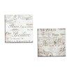 Portfolio Canvas Decor Bon Mots I by Mindy Sommers 2 Piece Textual Art on Wrapped Canvas Set