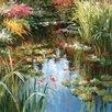 Portfolio Canvas Decor Garden Koi Pond by Jamie Cook Painting Print on Wrapped Canvas