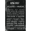 Portfolio Canvas Decor Transit French Menu III by IHD Studio Textual Art on Wrapped Canvas