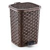 Superior Performance 6.8-Gal. Rattan Style Compact Trash Can