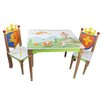 Fantasy Fields Knights & Dragons 3 Piece Rectangle Table and Chair Set