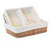 Baum 3 Piece Lined Willow Storage Basket Set