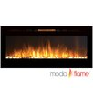 Moda Flame Cynergy Pebble Stone Built-In Wall Mounted Electric Fireplace