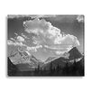 Gallery Direct 'In Glacier National Park, Tops of Pine Trees, Snow Covered' by Ansel Adams Photographic Print on Wrapped Canvas