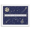 Gallery Direct Love You to the Moon Navy by Shelley Weir Framed Graphic Art