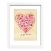 Folk Art Valentine by Christine Lindstrom Framed Painting Print