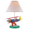"""Lite Source Airplane Toy 22"""" H Table Lamp with Empire Shade"""