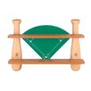 "Lite Source 21"" H Baseball Field Shelf in Natural Wood"