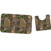 River's Edge Products Fall Transition Camo Mat and Toilet Mat Set