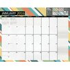 TFPublishing 2016 Stripes 12 Month Jan-Dec 2016 Desk Blotter Calendar