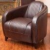 Home Loft Concepts Manado Channeled Leather Club Chair