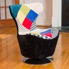 Home Loft Concepts Coney Patchwork Swivel Side Chair