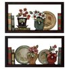 Hazelwood Home 2 Piece Faux Bookshelves Wall Décor Set