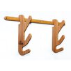 Maholla Products, Inc. Hallsteiner Duo 2 Tier Bamboo Ski Rack