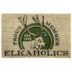 Bacova Guild Koko Bleach Elkaholics Doormat