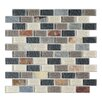 Mulia Tile Cheyenne 1'' x 2'' Natural Stone Mosaic Tile in Multi