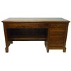 Forest Designs Executive Desk with 3 Right Drawers