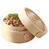 Restaurantware Mini Bamboo Steamer with Lid (Set of 100)
