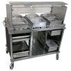 Cadco Mobile Hot Buffet Cart with Sneeze Guard