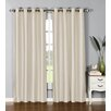 Window Elements Jamie Faux Silk Extra Wide Single Curtain Panel