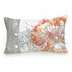 Jessica Simpson Home Golden Peony Floral Embroidered Decorative Cotton Lumbar Pillow