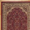 Three Posts Traditional Area Rug in Maroon