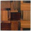 "Avenue Mosaic 4"" x 4"" Wood Mosaic Tile in Teak"