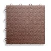 "BlockTile 12"" x 12""  Garage Flooring Tile in Brown"