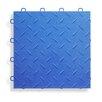 """BlockTile 12"""" x 12""""  Garage Flooring Tile in Royal Blue (Set of 27)"""