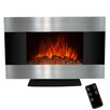 "AKDY 36"" Freestanding Stainless Steel Electric Fireplace with LED Backlight"