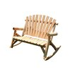 Moon Valley Rustic Settee Rocker
