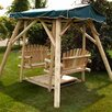 Moon Valley Rustic Double Glider Porch Swing with Stand
