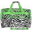 "World Traveler Zebra 22"" Travel Duffel"