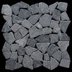Pebble Tile Fit Random Sized Natural Stone Pebble Tile in Grey
