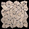 Pebble Tile Fit Random Sized Natural Stone Pebble Tile in Tan