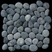 Pebble Tile Classic Pebble Random Sized Natural Stone Pebble Tile in Black