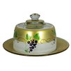 Golden Hill Studio Grapes 'n Vines Cheese Cake Stand