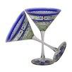 Golden Hill Studio Floral Martini Glass (Set of 2)