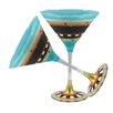 Golden Hill Studio Mosaic Chalk Martini Glass (Set of 2)
