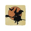 Golden Hill Studio Witch with Outline Coaster (Set of 8)